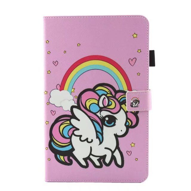 Smart PU Leather Unicorn For Samsung Galaxy Tab A A6 10.1 2016 T585 T580 T580N Case Girl Book Stand Protective Tablet Cover