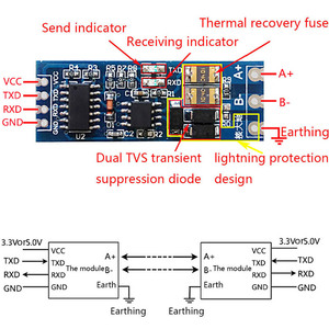 Image 4 - TTL to RS485 Module UART Port Converter Module Hight Anti Interference Ability For Industrial Field
