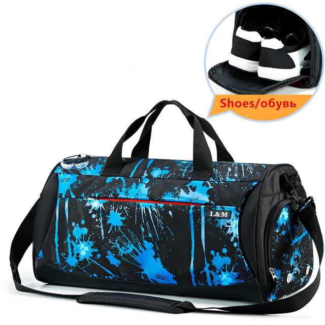 New 50x26x25cm 33L Large Men Sport Gym Bag Yoga Training for Women Fitness With TPU Bag for Wet Things sac de sport homme