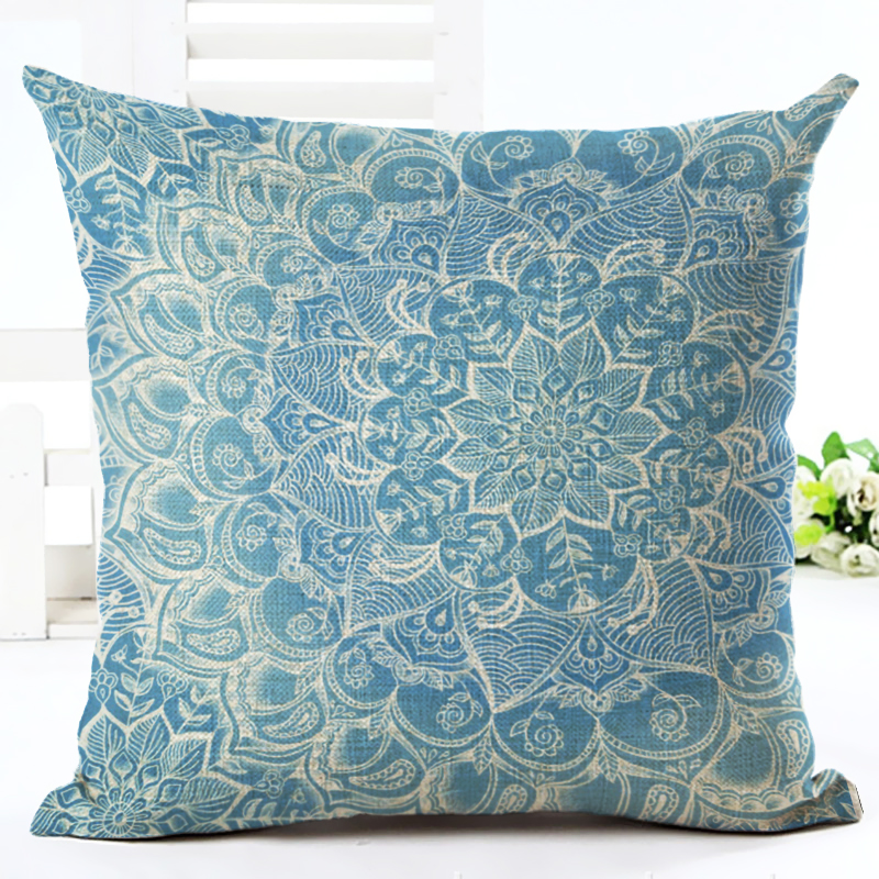 new arrival cushion cover 45x45cm floral printed linen pillow case home decorative sofa throw pillowcase for home decoration - Decorative Throws