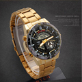 2017 Dual Display Multifunction Alloy Quartz Sports Fashion Men's Watch Waterproof Watch Gold Watch Army Table Relogio Masculino