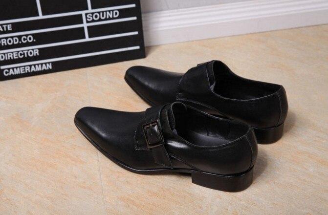 Casamento Se Rebites Dedo Negócios Sexo Formal Vestem Couro Mocassins Apontado Dos Black Oxford De Sobre O Genuíno Sapatos Masculino Homens Deslizar Para PA6f6
