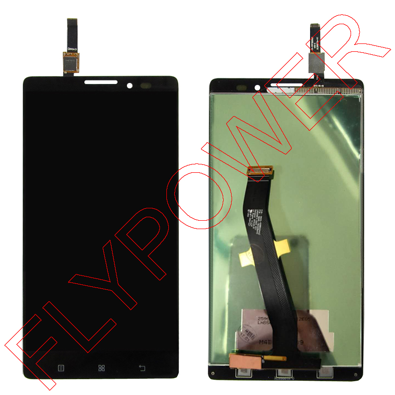 For Lenovo VIBE Z K910 K6 X910 LCD Screen Display with Touch Screen Digitizer Assembly by free shipping; black color; HQ аксессуар чехол lenovo k10 vibe c2 k10a40 zibelino classico black zcl len k10a40 blk