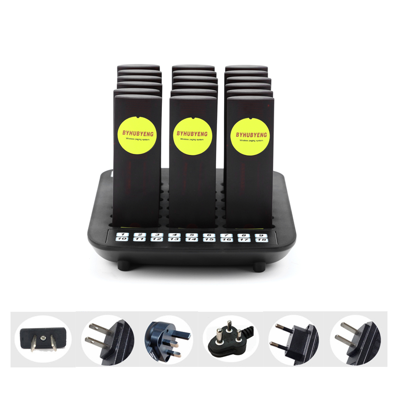 BYBH Factory Wireless Pager System Wireless Calling System Restaurant Equipment for Fast Food Shop with 18 Pagers Long Range