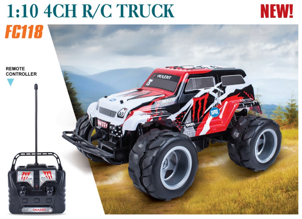 big size rc car FC118 high speed 4WD 4CH off-road RC monster truck with lights big wheels vehicle car toy rc toy for kid gifts