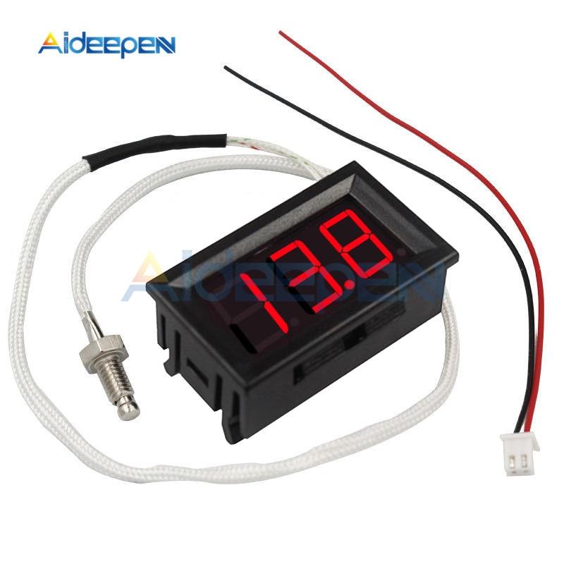 siwetg 50~110/°C Digital LED Thermometer DC 5-12V Car Temperature Display Green