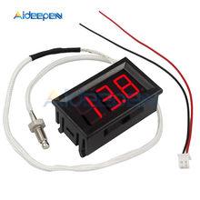 XH-B310 DC 12V LED Display-Tipo K Termômetro Digital Medidor de Temperatura M6 Tópico/Vara Termopar Tester -30 ~ 800C Termógrafo