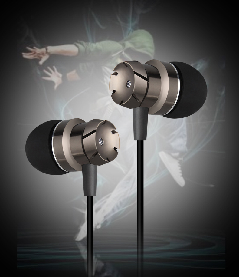 3.5mm In-Ear Turbo Design Earphones Metal Earbuds Stereo Super Bass Headset Handsfree With Mic for iPhone 6s Xiaomi mi earphones
