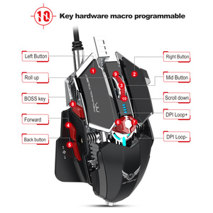 Image 5 - ZERODATE 4000 DPI USB Wired Competitive Gaming Mouse 10Programmable Buttons Mechanical Macro Definition Programming Game Mice