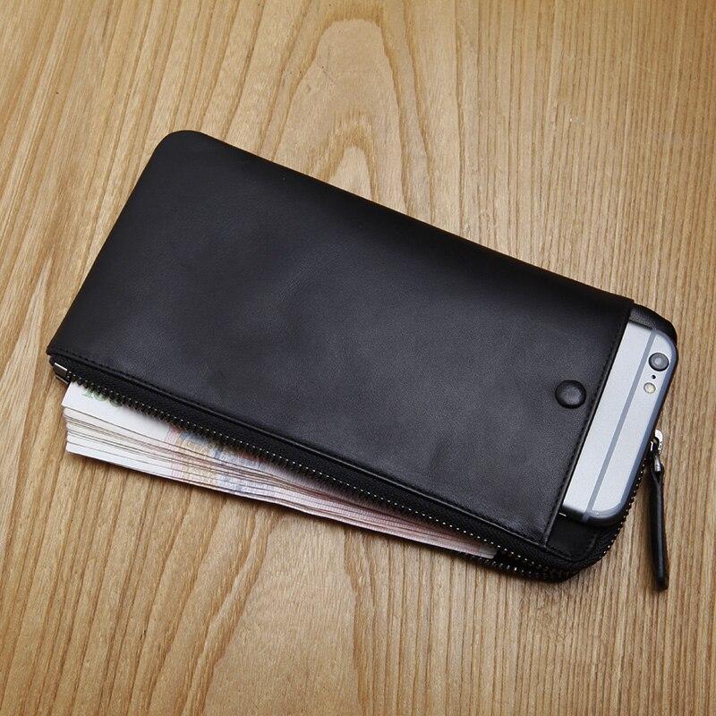 LANSPACE lederen portemonnee mode portemonnee beroemde merk - Portemonnees en portefeuilles