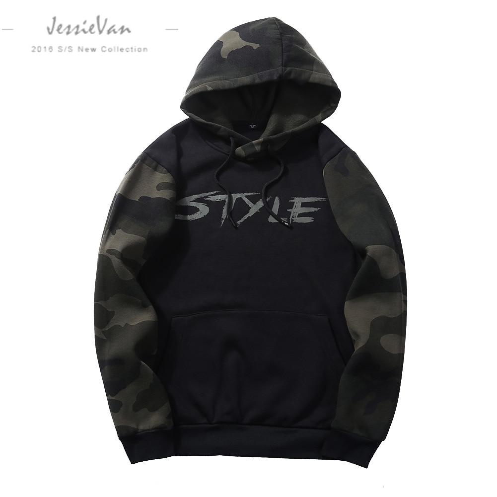 JESSIE VAN autumn men hooded sweatshirts 2018 new mens hoodies sweatshirts brand clothing fashion male hoodies Suprem size WY14