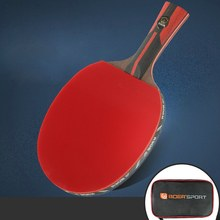 Professional Table Tennis Paddle Ping Pong Racket Soft Sponge Rubber Ergonomic Long/Short Handle Table Tennis Racket(China)