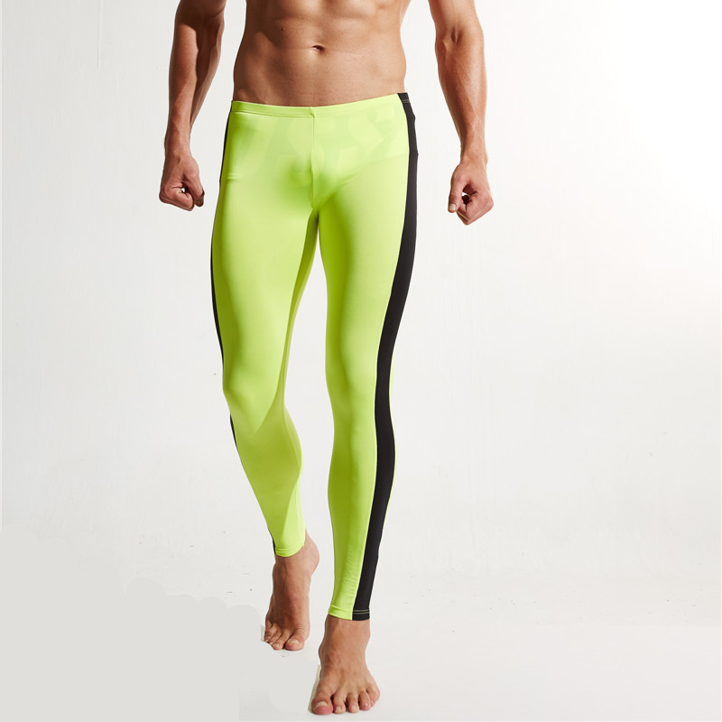 Fitness Running Pants Men Leggings Tights Sports Skins Tracksuits Dry Fit Mens Gym Compression Sportswear Jogging Sport E602-1