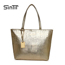 0569a5ad1b14 Women Crocodile Bag Fashion Luxury Designer Handbags Ladies Shoulder Bags  Golden Casual Tote Bag PU Leather High Quality Sac