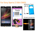 For Sony Xperia Z L36h C6606 C6603 C6602 C660x c6601 LCD Display Touch Screen Digitizer Assembly +Adhesive with Film + tools