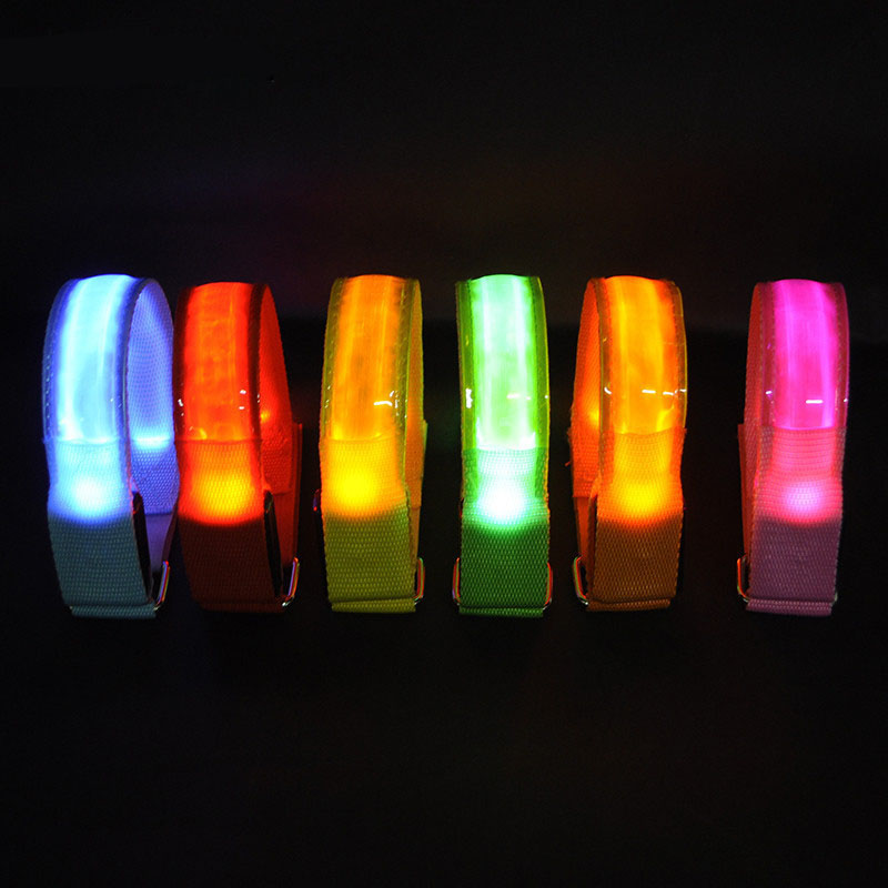 6 Colors LED Arm Bands Night Lighting Armbands Led Leg Safety Bands For Cycling/Skating/Party/Shooting/Jogging Outdoor Tools