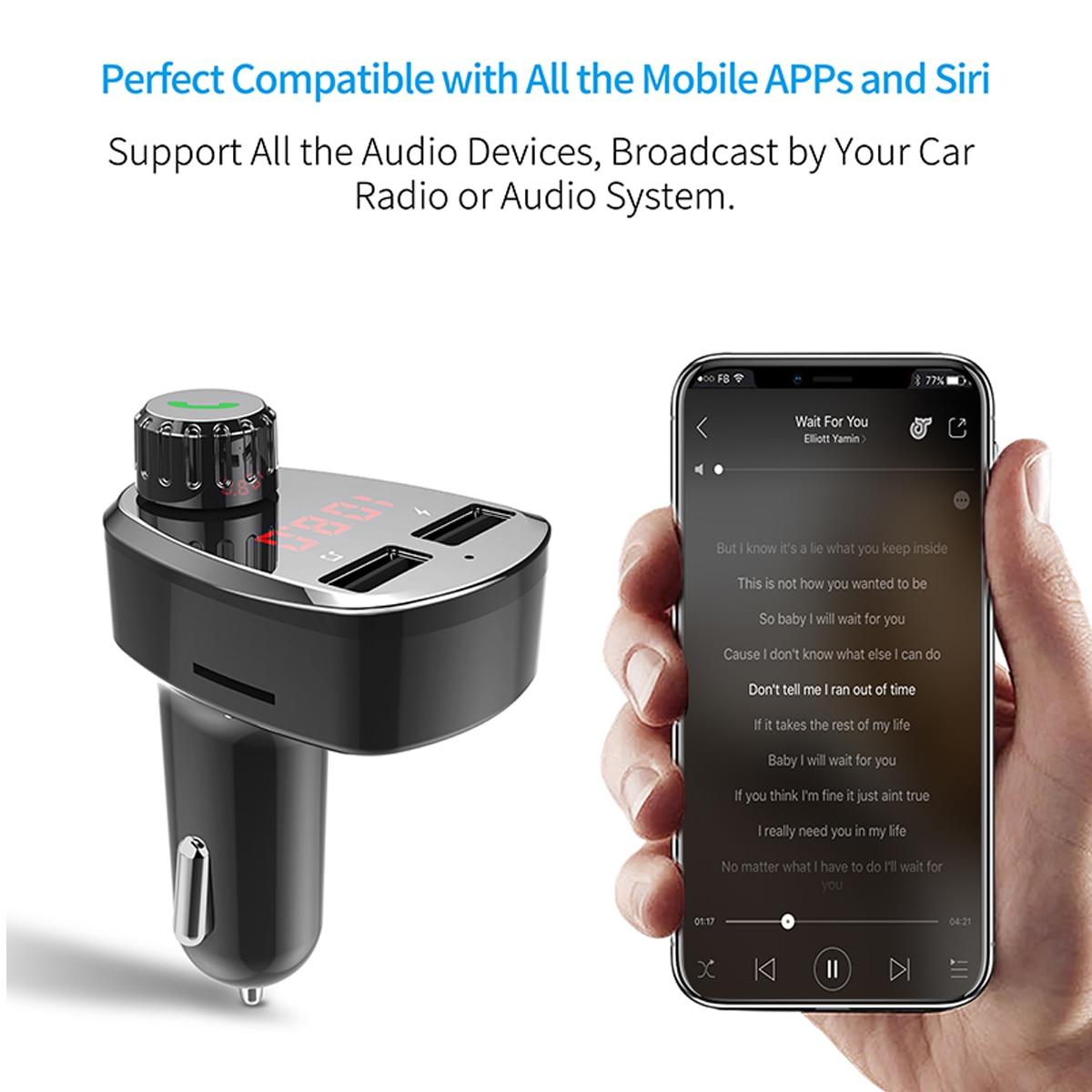 Image 4 - G13 беспроводной автомобильный комплект Bluetooth MP3 музыкальный плеер громкой связи автомобильный комплект с двойным USB интеллектуальная быстрая зарядка, автомобильное зарядное устройство-in FM-трансмиттеры from Автомобили и мотоциклы on AliExpress - 11.11_Double 11_Singles' Day