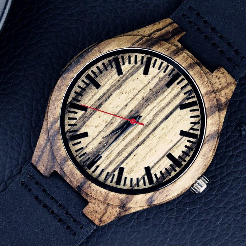 2016 festival Memorial Day gift Enmex natural stripe Bamboo wristwatch work of art handmade natural wood