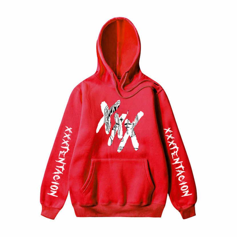 2019 XXXTentacion パーカー男性/女性カジュアルプルオーバーストリートトレーナー Sudadera やつ原宿男性フードクルーネック 3XL