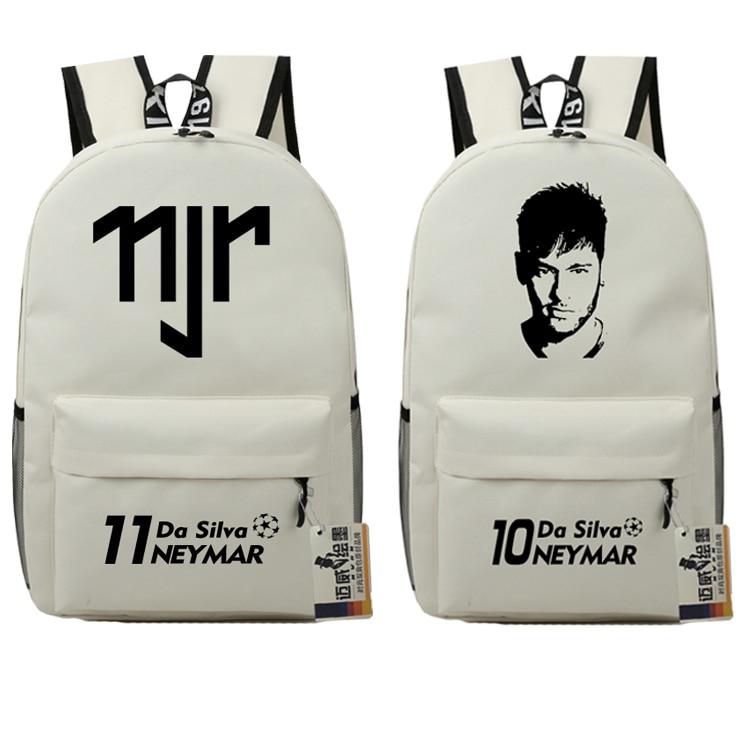 Teenagers Neymar Anime School Bags Book Backpacks Bag Foot Ball Kids Fashion Shoulder Bag Students Travel Bag Mochila Escolar