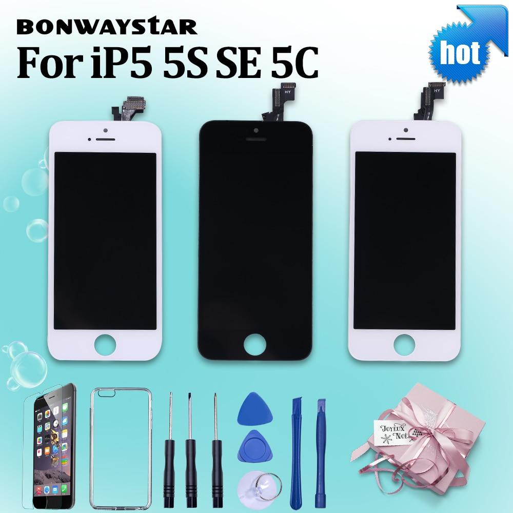AAA Qualität Für iPhone 5 s 6 4 s 5c LCD Touch Screen Montage 100% Marke Neue Display LCD für iPhone SE Bildschirm + gehärtetem glas + Werkzeuge