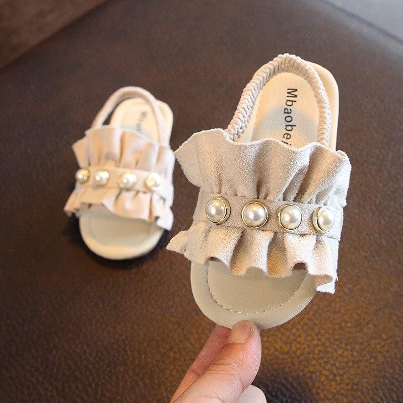2018 ילדים האופנה קיץ חרוזים בבית נעלי בית נעלי בנות בני החלקה ללבוש לנשימה סנדלים חיצוניים משלוח חינם