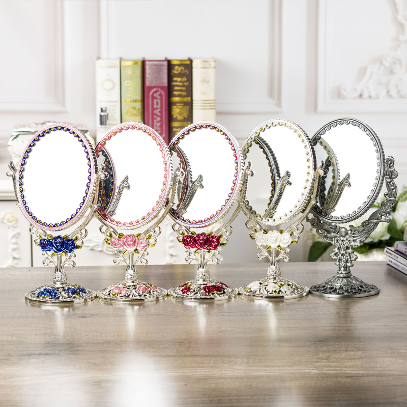 desktop makeuP 360defree rotating one face 1:3 magnify image makeup mirror frame decorative table mirrors wedding decorativeJ052