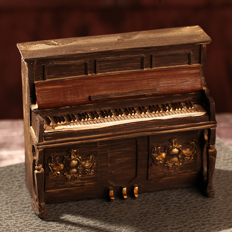 2017 New Piano Model Decor Classical Gift For Friends Craft Gifts for Kids Handicraft Furnishing Articles Resin Miniatures
