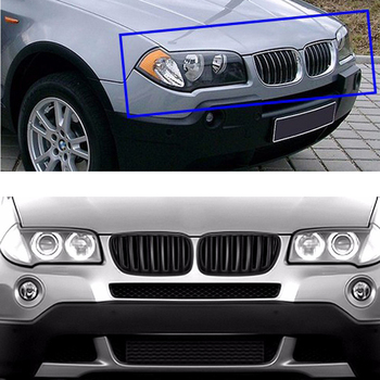 Car Kidney Front Bumper Racing Grills For BMW X3 E83 M Performance Accessories M-Color Motorsport X Series 2003 2004 2005-2010