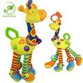 Infantil Do Bebê bonito Plush Multipurpose Bed Pendurado Com Sino Criança Unisex Girafa Cama Carro Pendurado Brinquedo de Pelúcia Do Bebê Recém-nascido Crianças
