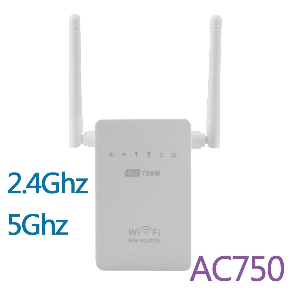Prix pour Date 750 M Sans Fil-AC Routeur AC750 Double Bande 2.4 GHz/5 GHz Wifi Extension de Répéteur Booster 802.11AC WPS AP Antenne