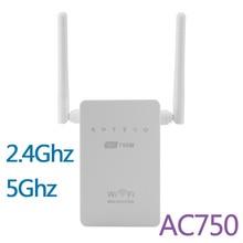 Новые 750 М Wireless-AC Маршрутизатор AC750 Двухдиапазонный 2.4 ГГц/5 ГГц Wi-Fi Ретранслятор Extender Booster 802.11AC WPS AP Антенны