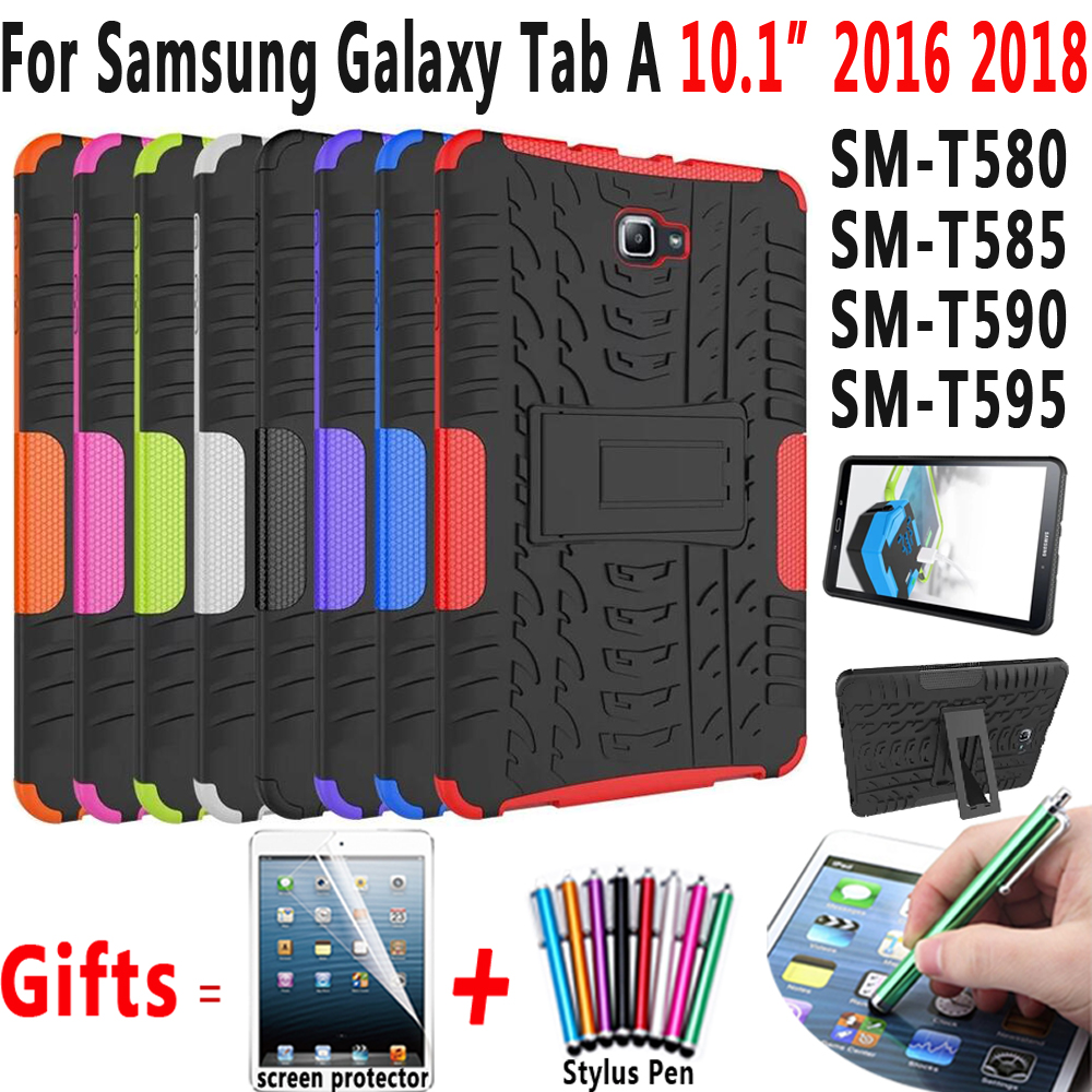 Tire Silicon Cover for Samsung Galaxy Tab A 10.1 2016 2018 Case T580 T585 T590 T595 for Tab A6 10.1 2016 SM-T580 SM-T585 Case