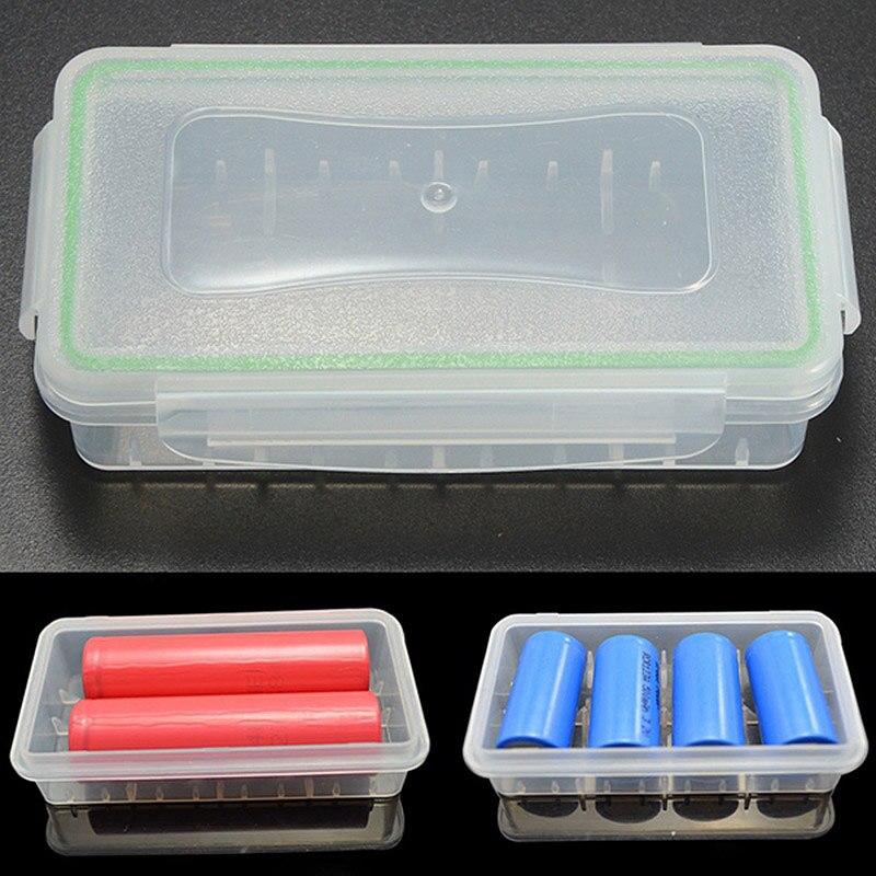1/2/4pcs Clear Plastic Waterproof Battery Storage Box Battery Storage Case for 18650 16340 Battery 1/2/4pcs Clear Plastic Waterproof Battery Storage Box Battery Storage Case for 18650 16340 Battery