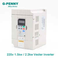 New arrival! 220v 1.5kw / 2.2kw Vector Inveter 400Hz output Frequency Converter Variable Drive VFD Motor Speed Control