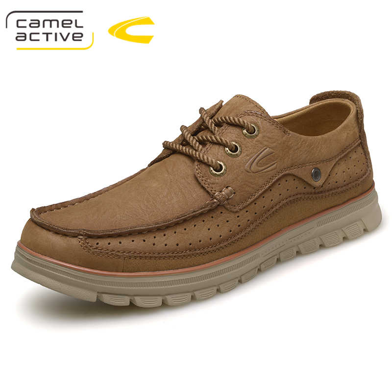 39a01089c00 Camel Active High Quality Genuine Leather Shoes Mens Shoes Outdoor Male  Casual Leather Flats Comfortable Mens
