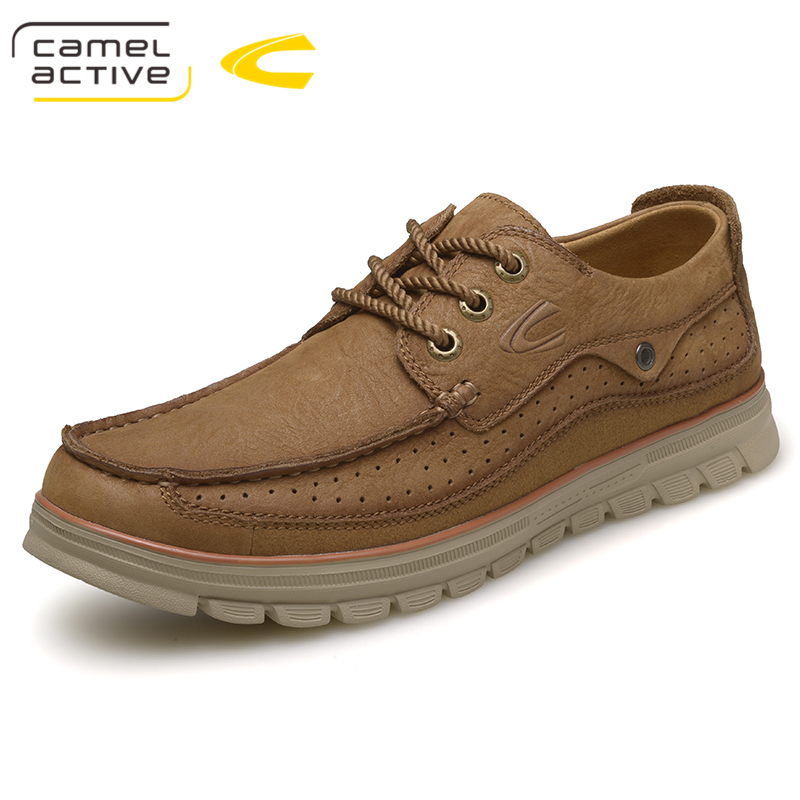 Camel Active High Quality Genuine Leather Shoes Mens Shoes Outdoor Male Casual Leather Flats Comfortable Mens Shoes Large Sizes cimim brand new hot sale men flats shoes fashion mens shoes casual comfortable mens shoes large sizes 38 48 superstar zapatos