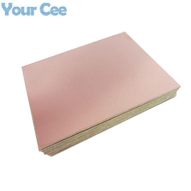 10 Uds. Una sola cara de fibra de vidrio PCB placa revestida de cobre placa de circuito laminado 10X15cm 100mm * 150mm * 1,5mm 100mm x 150mm 10cm * 15cm