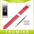 16mm correa de piel genuina + herramienta para huawei talk banda b3 moto 360 2 42mm correa de reloj de las mujeres croco grain correa de muñeca pulsera