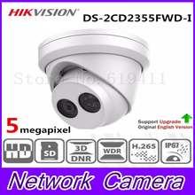New Released HiK H.265 5MP Network Turret IP Camera DS-2CD2355FWD-I English Version Security Camera Built-in SD card Slot WDR