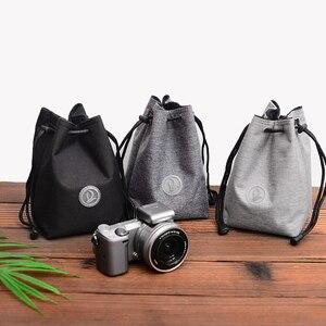 Image 2 - Trekkoord Shockproof Camera Balk Zakken Doek Beschermende Lens Bag Voor Canon Nikon Fuji Sony Panasonic Olympus