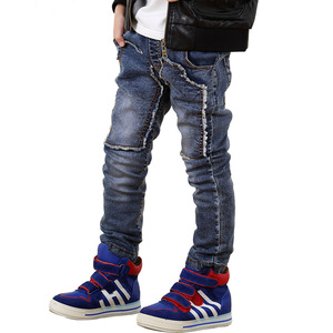 Image 2 - Fashion Winter Warm Boys Jeans Children Thicken Add Wool Denim Trousers Toddler Boys Clothes Teenager Washing Blue Jeans 3 10Yrs