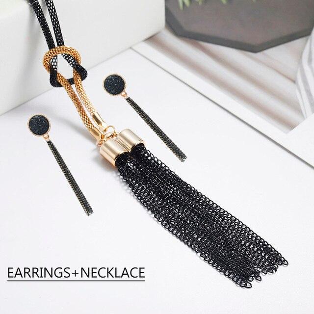 Black Tassel Pendant...