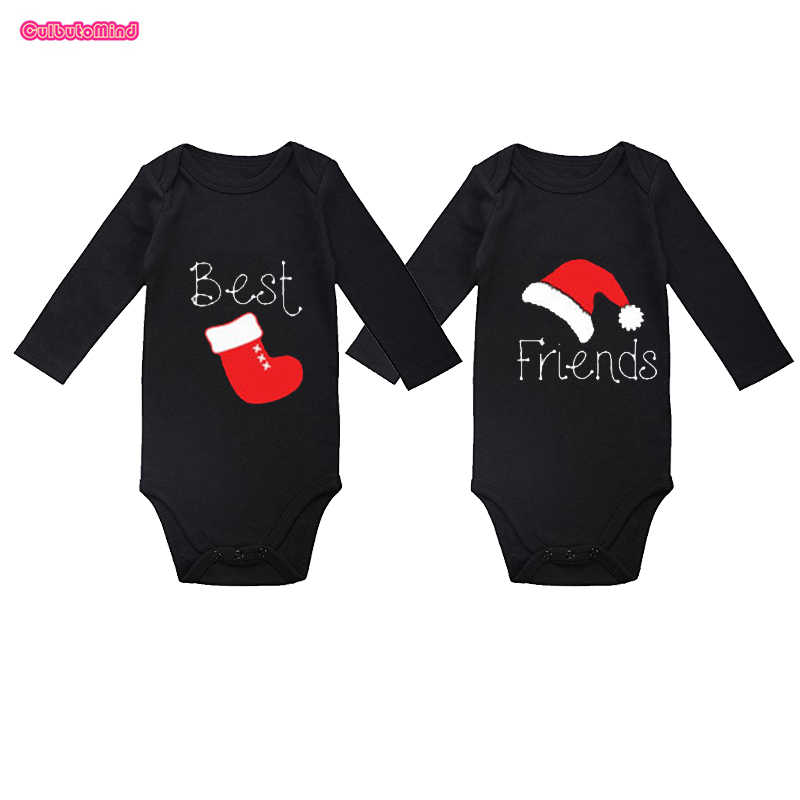 1f152576 Culbutomind Twin Christmas Outfits, Twin Gifts, BEST FRIENDS Matching Black  Body Suits, Twin