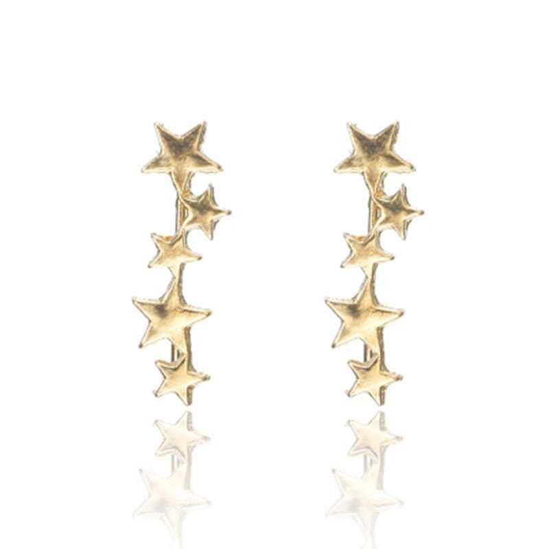 MYHFKK Star Earrings Little Stars Moon Stud Earrings Women's Stud Earrings Mother's Day Birthday Gift Jewelry Earrings EH070