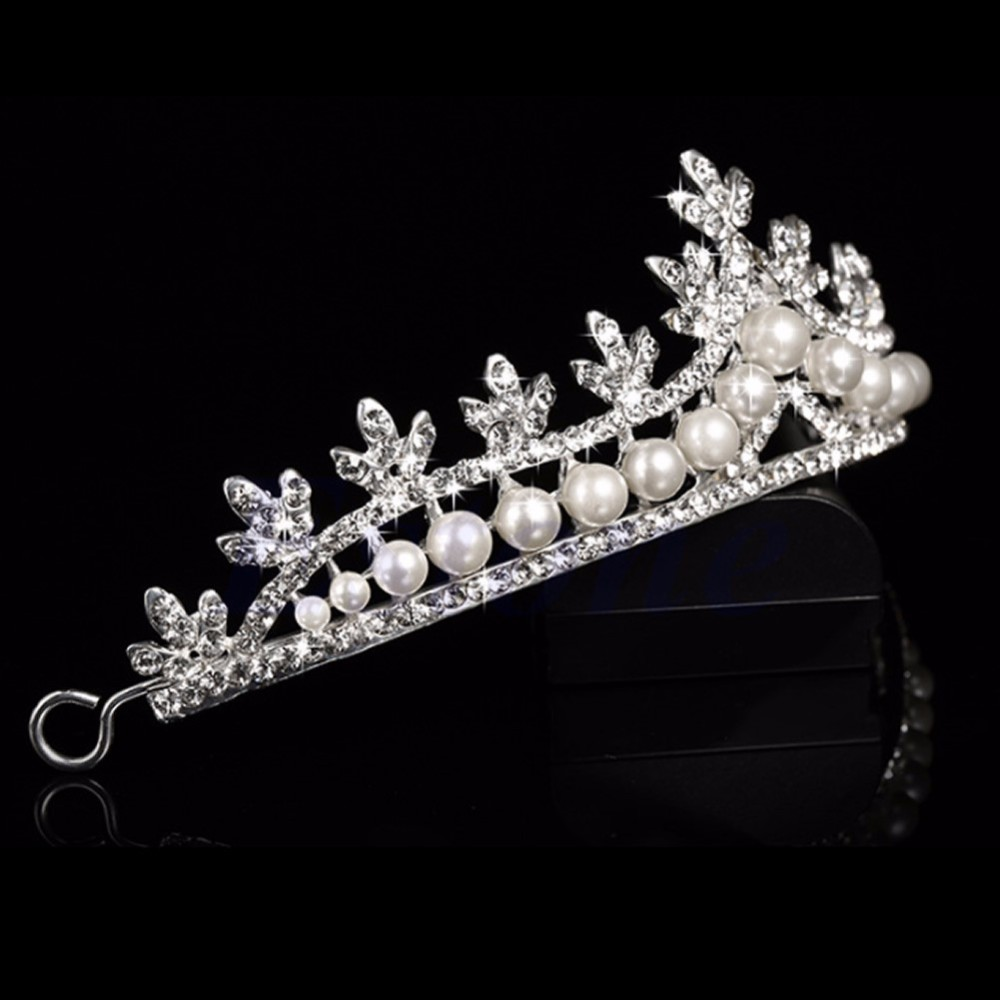 HTB1yrY0LpXXXXbIXpXXq6xXFXXXi Luxurious Bridal Prom Cosplay Rhinestone Crystal And Pearl Princess Tiara