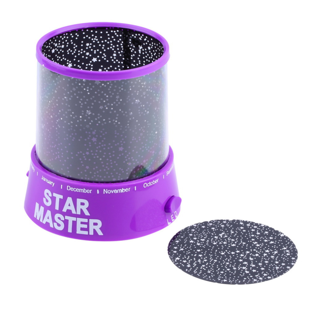 Cosmos Moon Colorful Master Star Sky Universal Night Light Kid Chidren Projector lamp Christmas Gift Present