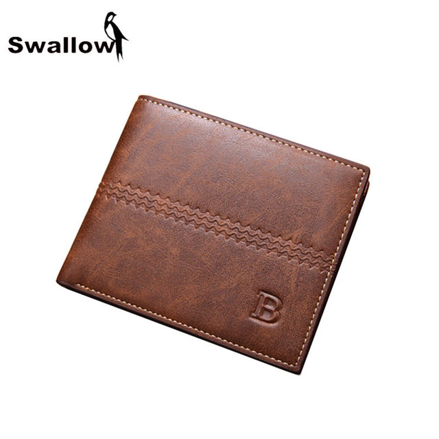 2017 Fashion Leather Coin Purse For Men Money Men's Purse Short Leather Men Wallets Famous Brand With Coin Pocket Dollar Price