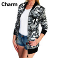 8 Style Autumn Zipper Patchwork Camouflage Women Jacket Stand Casual Bomber Coat Basic Clothing Slim Women Outwear Mujer S-2XL