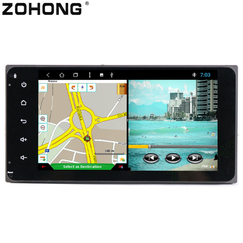 2 din 8 Core 2G 32Gb android car DVD Player for Toyota Corolla Ex RAV4 Camry